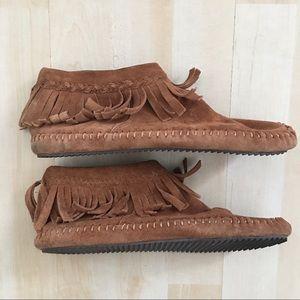 Aldo Shoes - Aldo genuine suede moccasins ankle boots w/ fringe